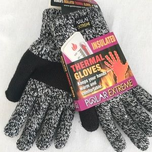 Polar Extreme Black White Thermal Gloves S/M